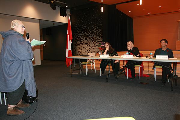Claudette Guibord addresses panel.