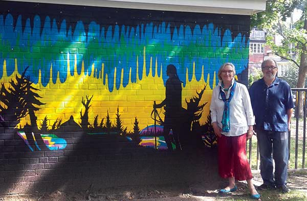 New mural in park
