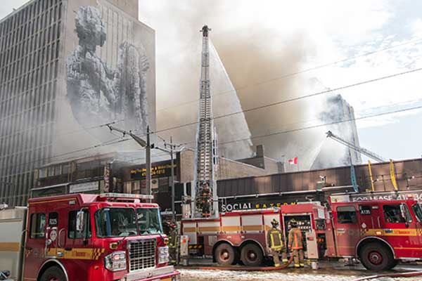 St. Clair fire photo