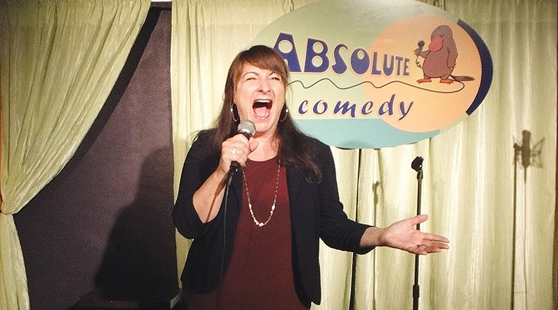 Kate Davis performs at Absolute Comedy