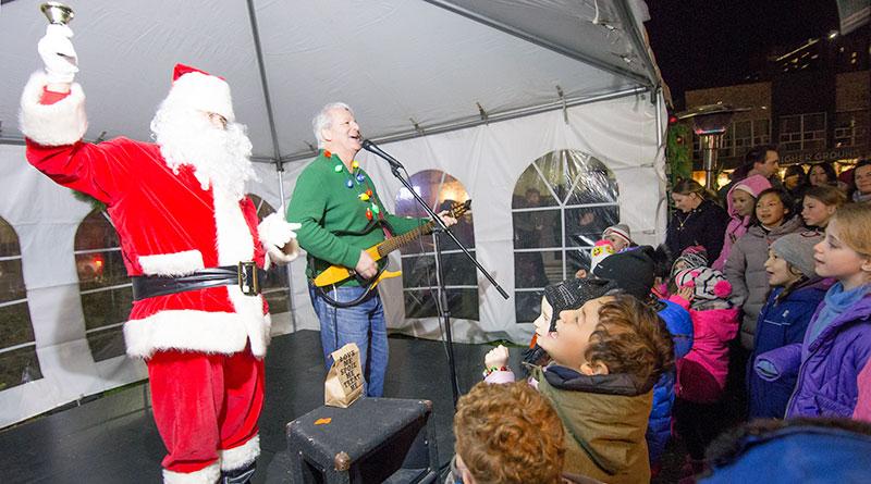 Santa at tree-lighting