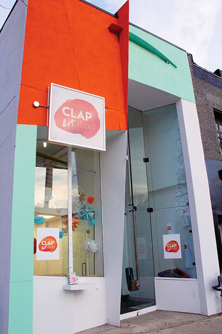 Front of CLAP Art Studio