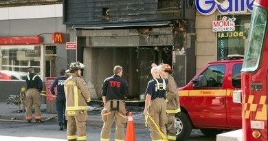 three-alarm blaze