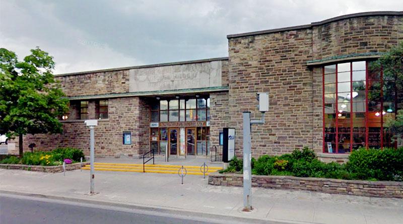 Locke Library scene of talk on balance for seniors