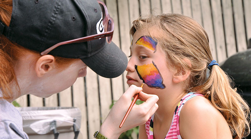 Spring Into Action face-painting