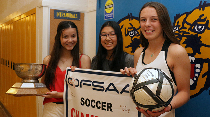 girls' soccer team won OFSAA gold