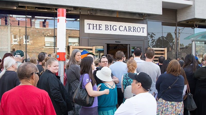 Big Carrot outside