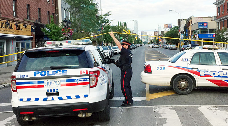 Danforth Avenue blocked after shooting