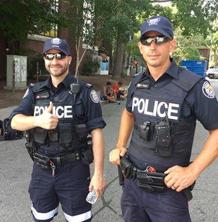 Police at Taste of the Danforth