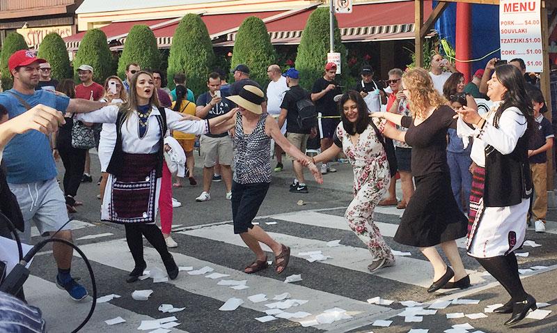 Dancing at Taste of the Danforth