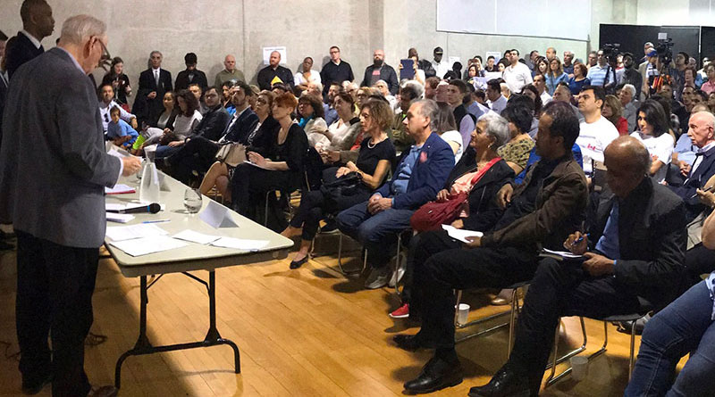 Town hall meeting on refugees