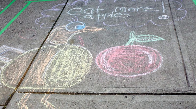 Apple Fest chalk drawing