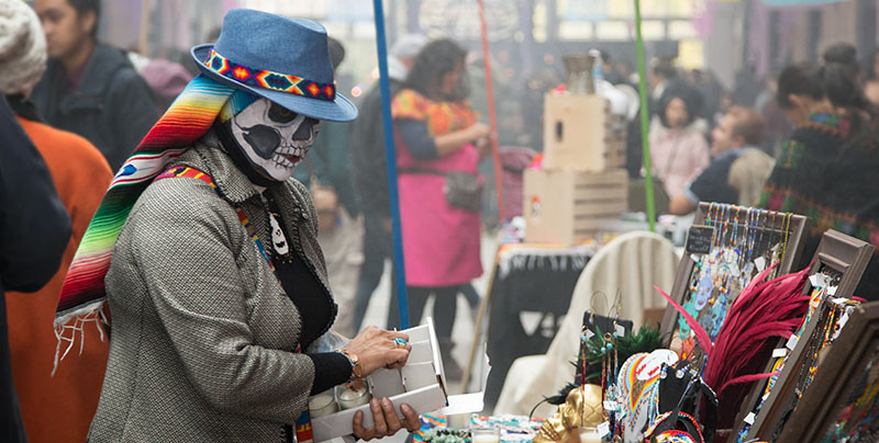Day of the Dead booth
