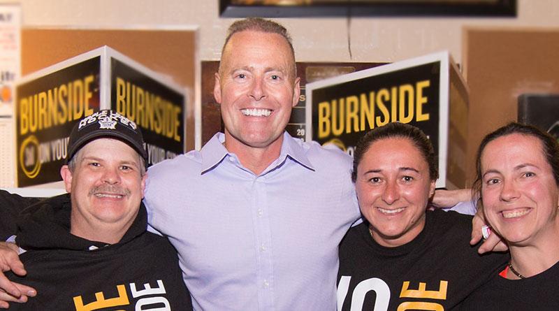 Jon Burnside on election night