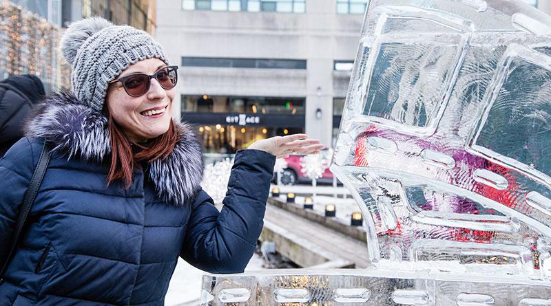 Icefest sculpture on display