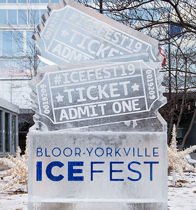 Icefest signpost