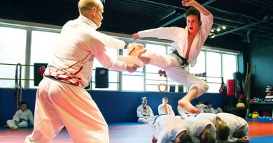 Karate at Don Ritter's studio