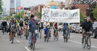 Bells on Danforth banner leads the way