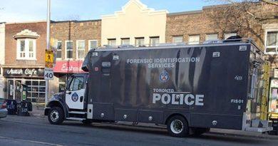 Toronto forensic vehicle at shooting scene