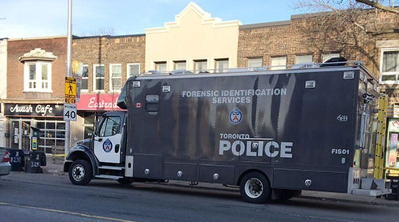 Toronto forensic vehicle at shooting scene