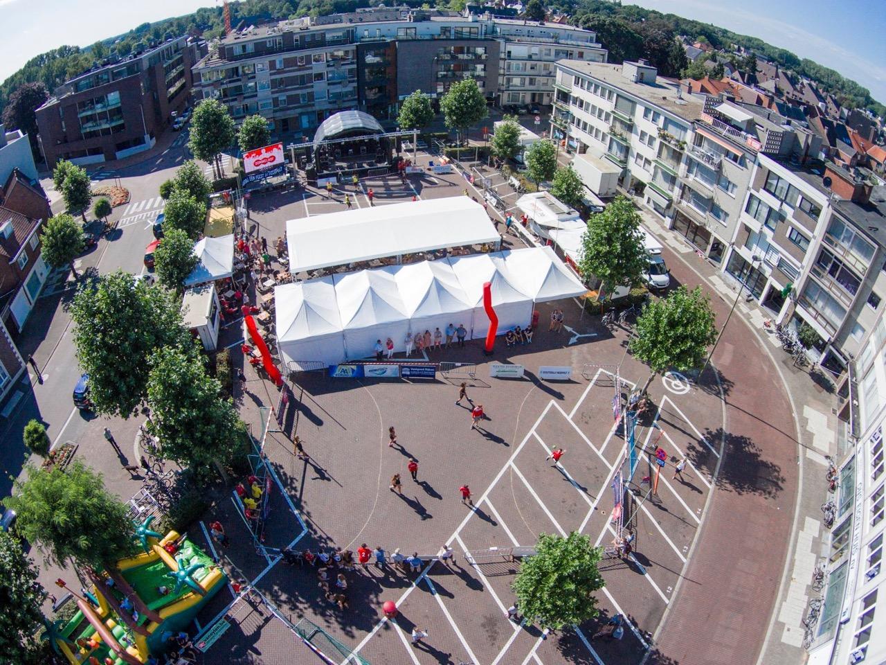 drone photo SH street handball event sporting nelo belgium 2015 1
