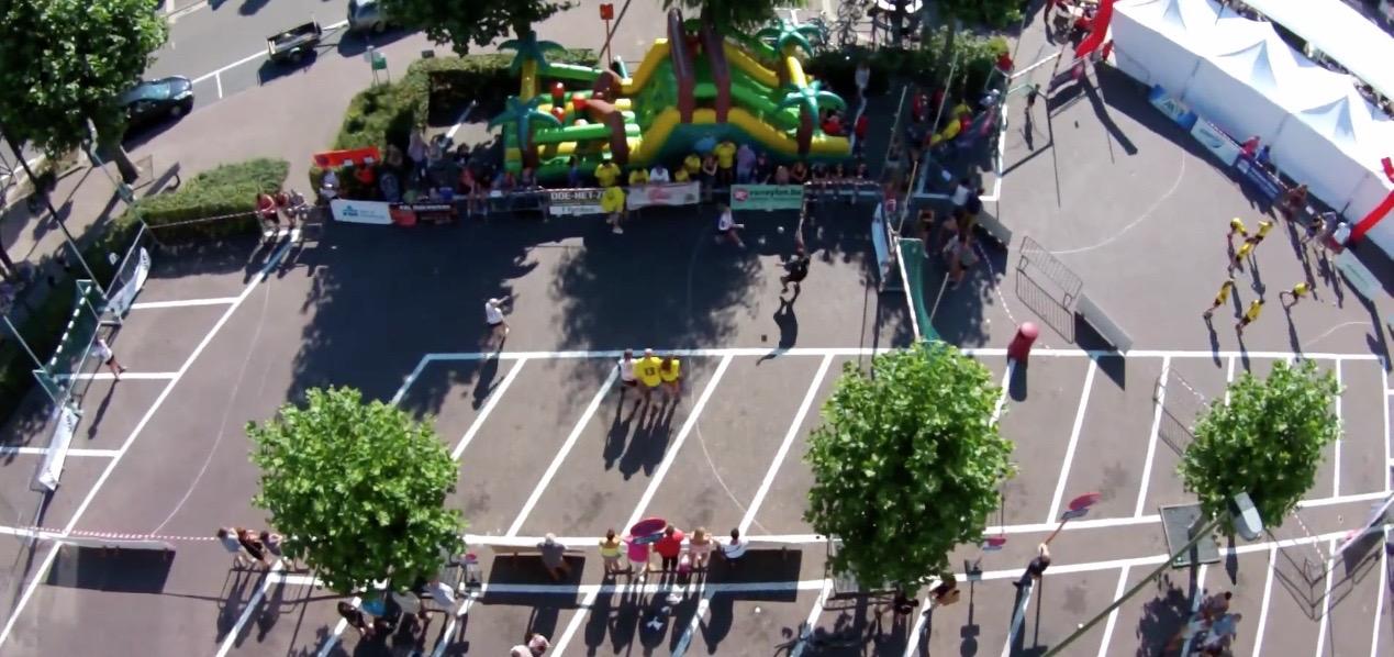drone photo SH street handball event sporting nelo belgium 2015 8