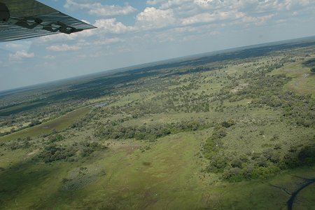 45th Image View Plane Flying Over Africa