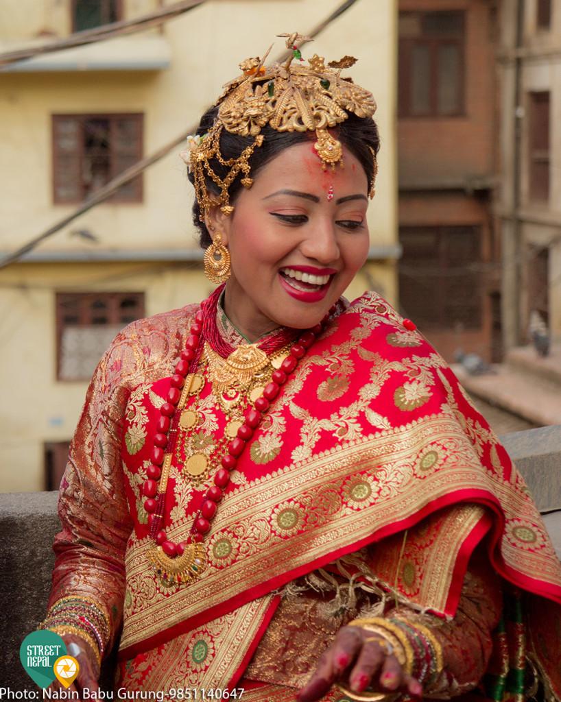 Nepali wedding dress for bride
