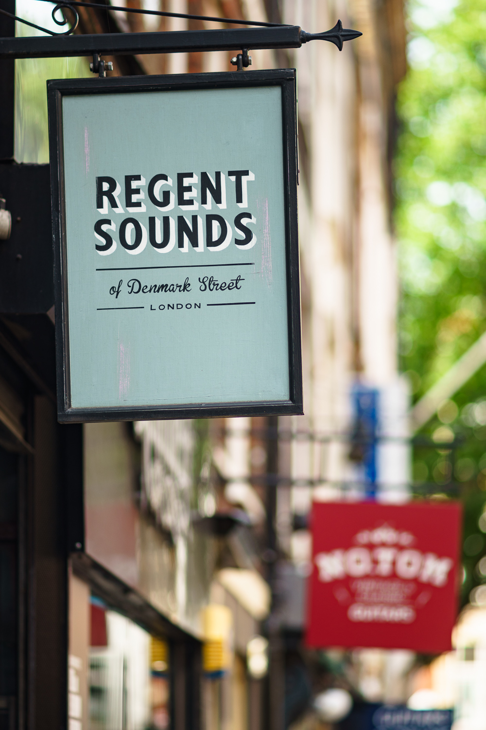 Photo of Regent Sounds' shop sign