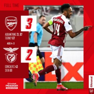 Arsenal vs Benfica 3-2 – Highlights [DOWNLOAD VIDEO]