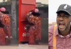 E Don Happen! Moment Masquerade Makes Love To His Girlfriend In Public [Video]