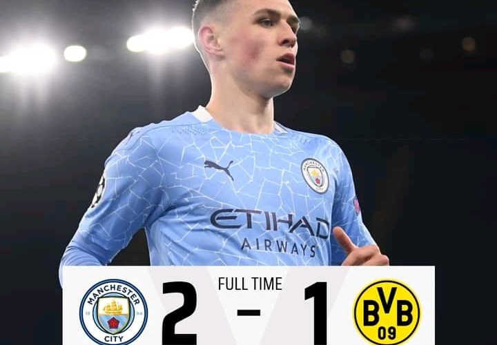 Manchester City 2-1 Borussia Dortmund - Goal Highlights
