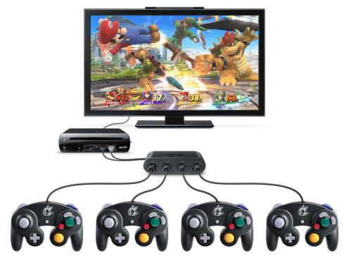 Super Smash Bros. for Wii U mit GameCube Controllern