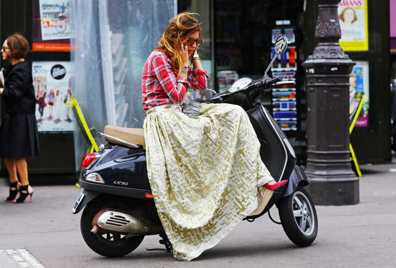 maxi on a bike