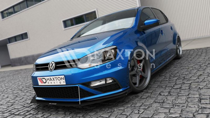 front racing splitter vw polo mk5 gti with wings. Black Bedroom Furniture Sets. Home Design Ideas