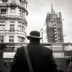 La trilogie, chapeau melon, Big Ben et un Bus à impérial londonien
