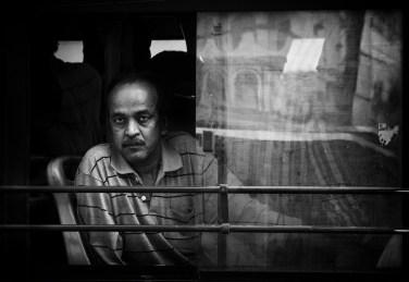 Man on Bus, Kolkata