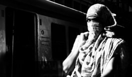 Woman w Scarf, Goregoan Station