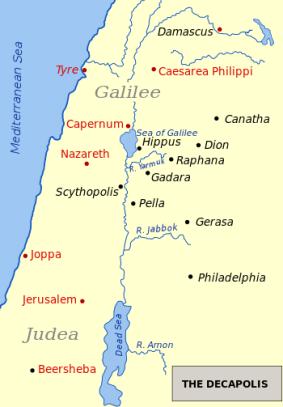 Caesarea Philippi map
