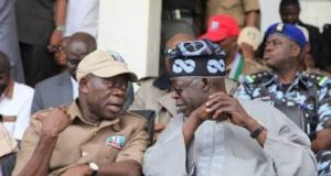 Adams Oshiomhole and Ahmed Tinubu