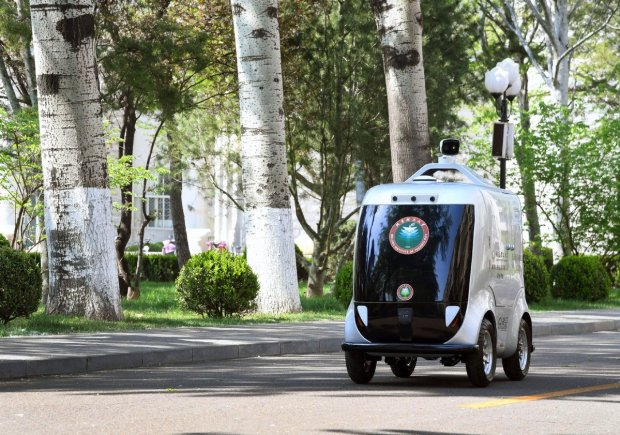 China has developed 5G unmaned delivery car