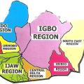Igbo in South East Nigeria Map