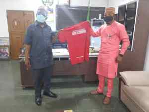 Obidike with Chief of Staff to Abia state Governor - Dr. A.B.C Agbazuere