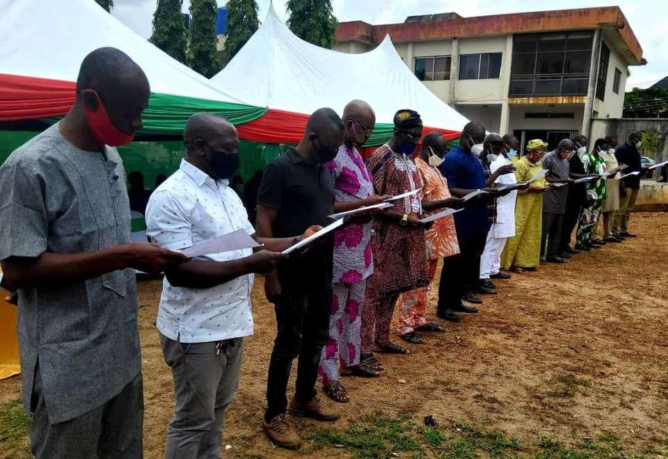 PDP National Leadership Swears in Enugu State EXCO