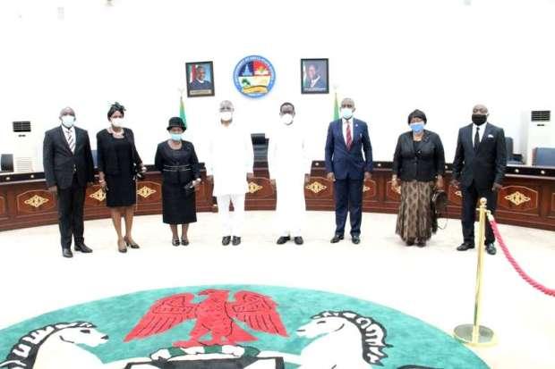 Okowa Swears in 3 Judges, Urges Speedy Dispensation of Justice