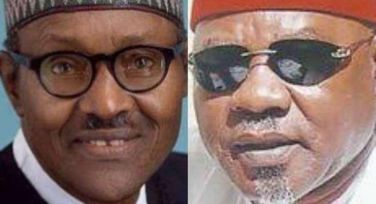 Muhammadu Buhari and Willy Ezugwu