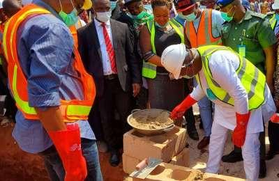 Ugwuanyi Lays Foundation for Hospital Complex at Ogrute