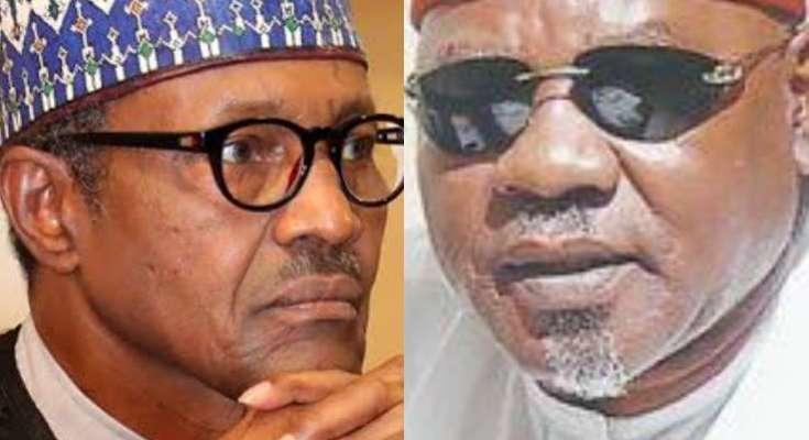 President Muhammadu Buhari and Chief Willy Ezugwu