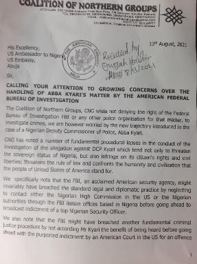 CNG Arewa Groups Write US Government over Abba Kyari vs FBI