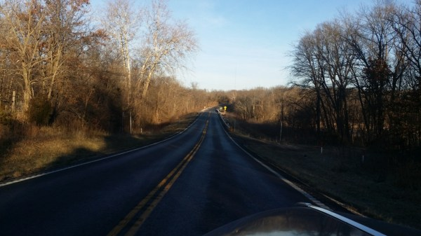Coming up to the second crossing of the James River, on Highway 125.